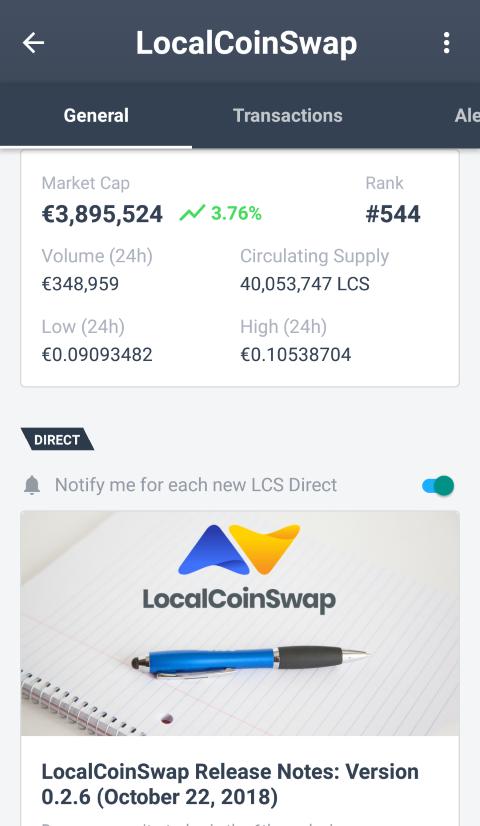 LocalCoinSwap joins Delta direct