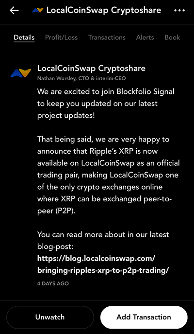 Blockfolio Signal