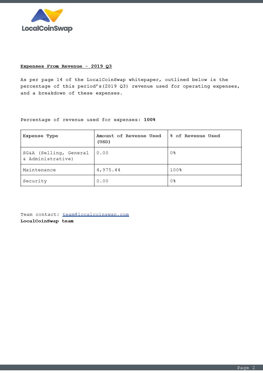 2019 Q3 revenue announcement page 2