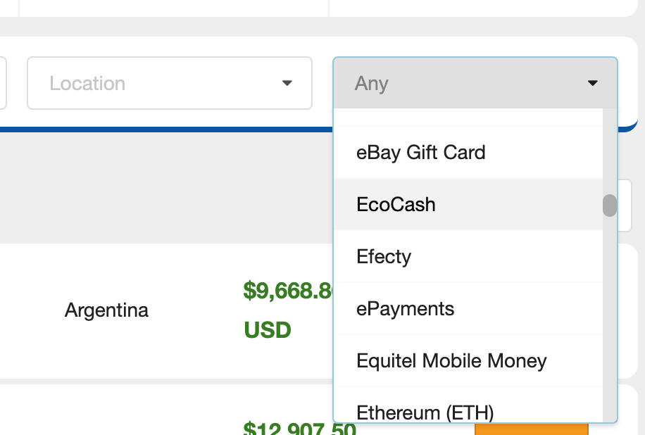buying cryptocurrency with EcoCash