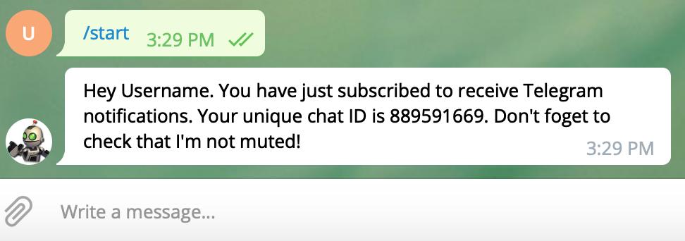 configuring telegram notifications for LocalCoinSwap