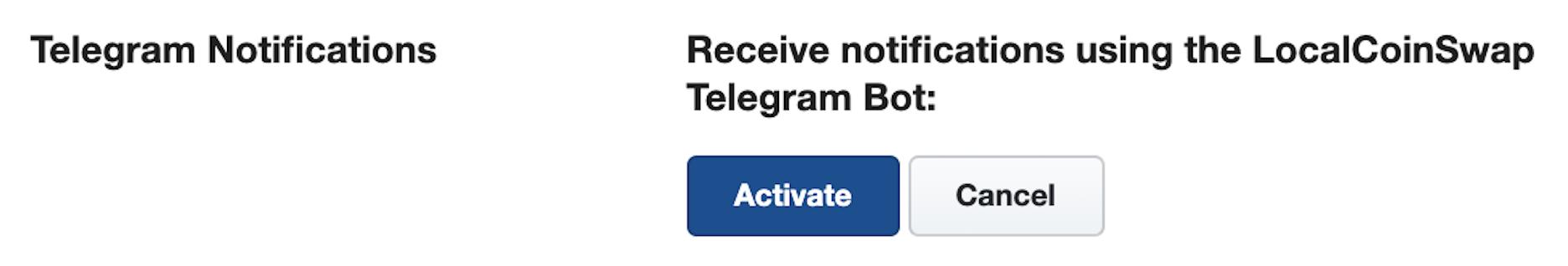 enabling telegram notifications