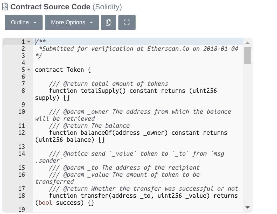 solidity source code