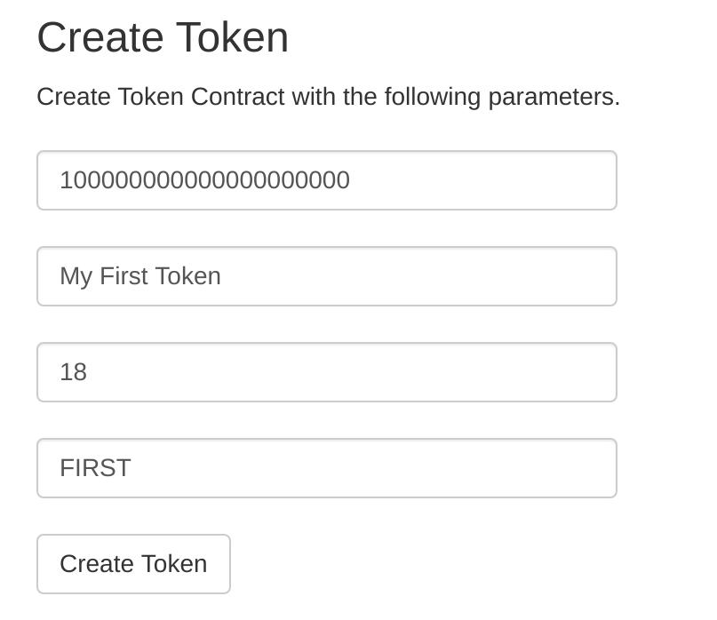 ethereum token contract parameters
