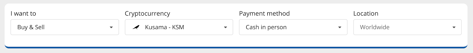getting started buying KSM with cash