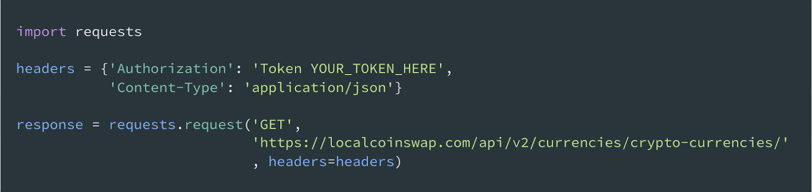 cryptocurrency trading API python