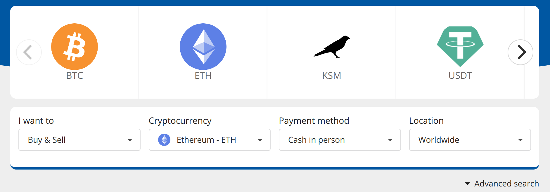 finding traders that accept cash to buy ethereum